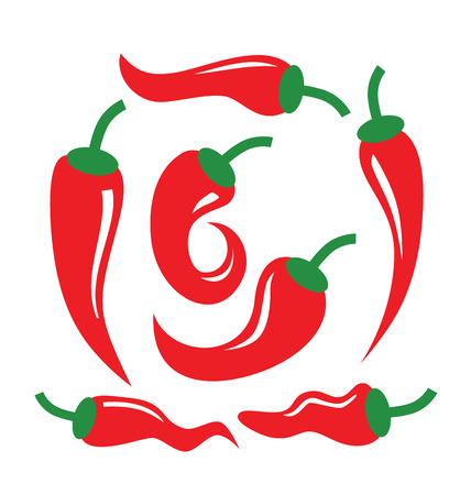 peper: vector color illustration of Chili Pepper on white