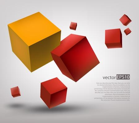 3d 큐브 일러스트