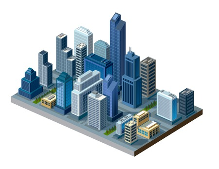 isometric city Stock Vector - 34246123
