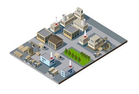 Isometrische Fabrik Standard-Bild - 34481264