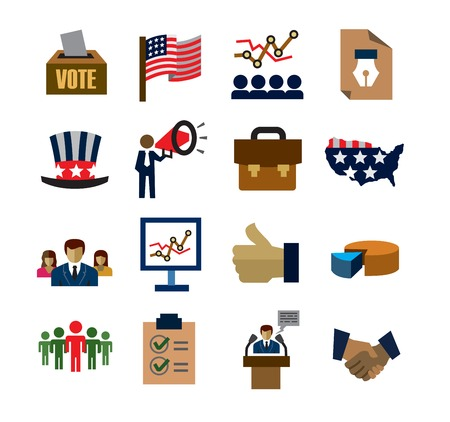 election debate: election icons Illustration