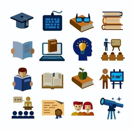 higher education: higher education icons Illustration