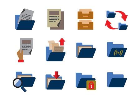 file transfer: folder icons Illustration