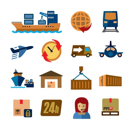 credit card business woman: shipping and cargo
