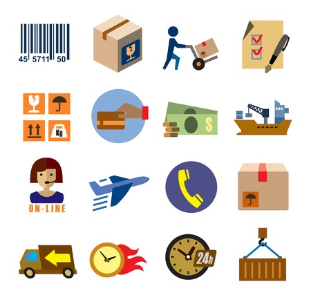 shipping icons Ilustração
