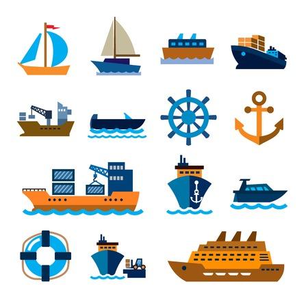 boot en schip Stock Illustratie