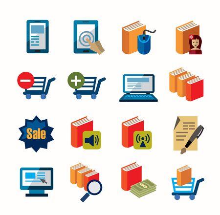 audio book: e-book icons Illustration