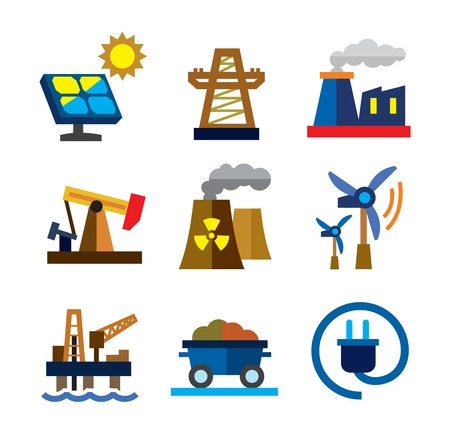 power grid: energy icons