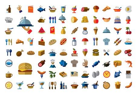 comida italiana: icono de los alimentos Vectores