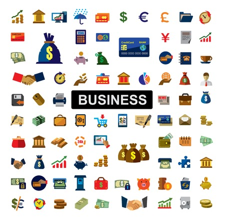 Icônes bancaires Banque d'images - 36362506