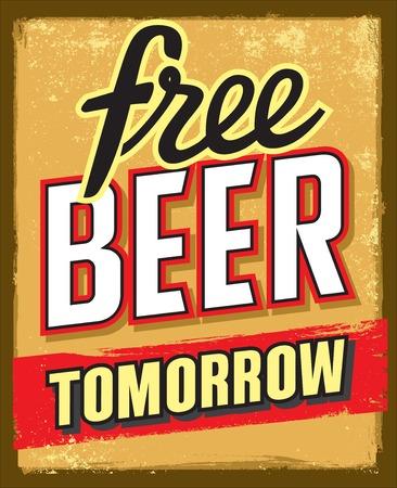 cerveza libre mañana poster
