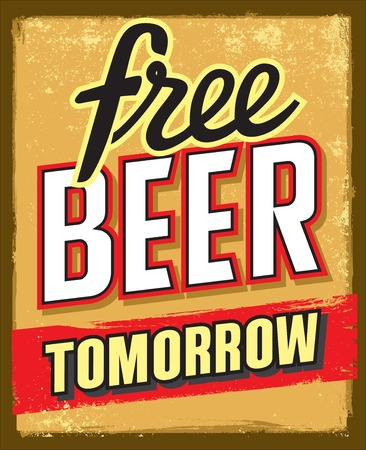 tomorrow: free beer tomorrow poster