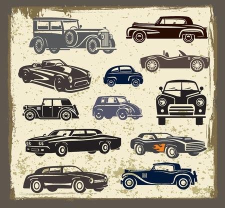 classic car: vintage style retro cars