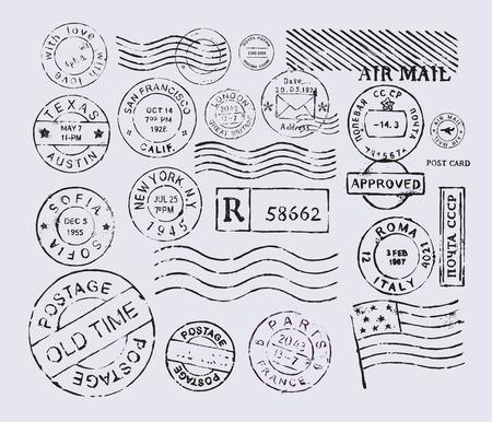 post stamp: francobollo Vettoriali