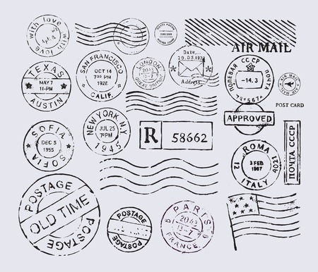 post cards: postage stamp