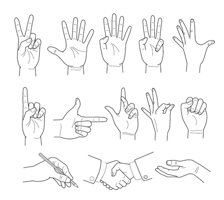 Illustratie van de hand