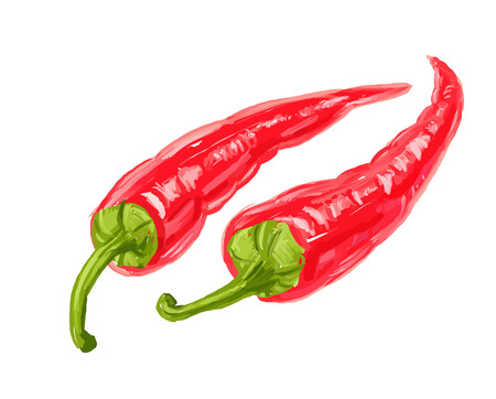 picture of hot peppers Vector