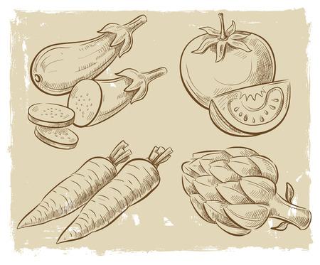 aubergine: picture of vegetables