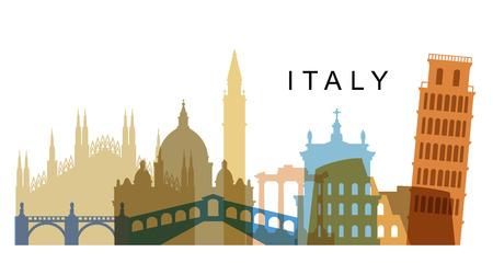 Vektor-Italien Illustration