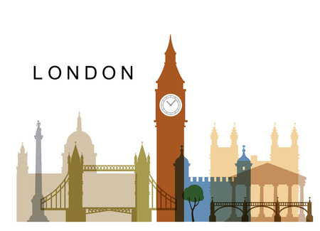 london skyline: vector UK