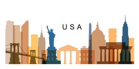 washington dc: vector USA