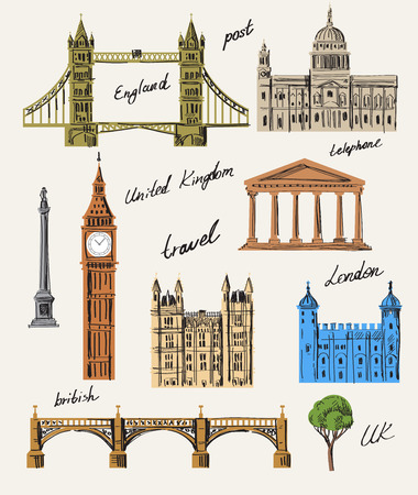 vector illustration of interesting place in UK