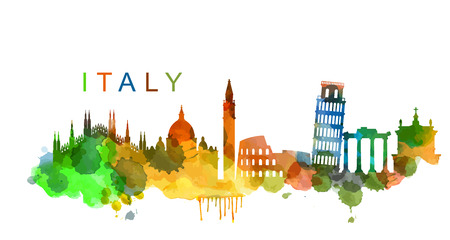 world travel: vector Italy