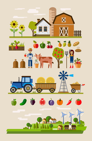 Agriculture et de l'Élevage Banque d'images - 39941777