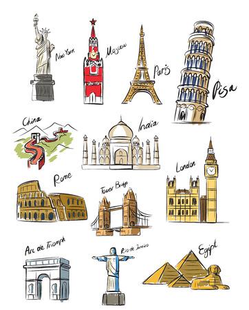 Vektor-Reise-Symbol auf weißem gesetzt Illustration