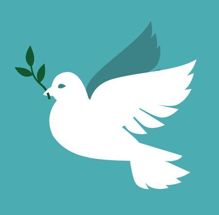 vektor weiß Dove-Symbol auf grauem Hintergrund Illustration