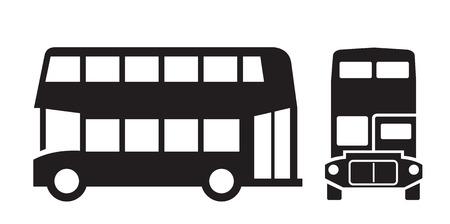 londres autobus: vector black London bus icon on white background