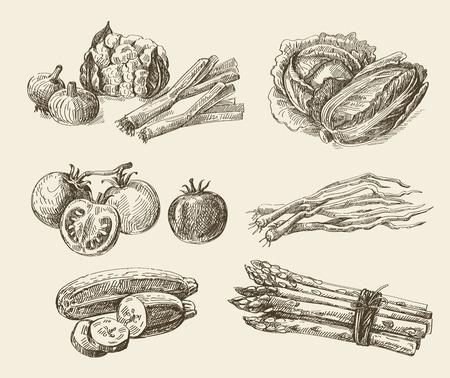 Vector hand getrokken voedsel schets en keuken doodle Stockfoto - 47608746