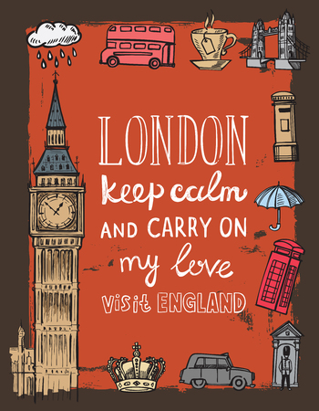 london: vector hand drawn Books stack sketch doodle Illustration