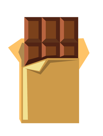 chocolate box: vector chocolate bar icon on white background