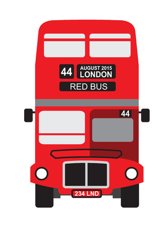 vector color London bus icon on white background