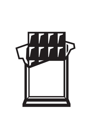 chocolate box: vector black chocolate bar icon on white background Illustration