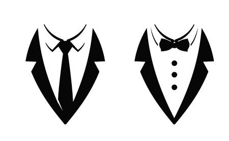 black tie: black Tie icon on white background