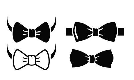 black bow: black bow tie on white background