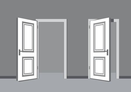 new entry: vector black door icon on white background