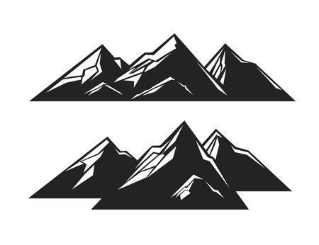mountaintop: vector black mountain icon on white background