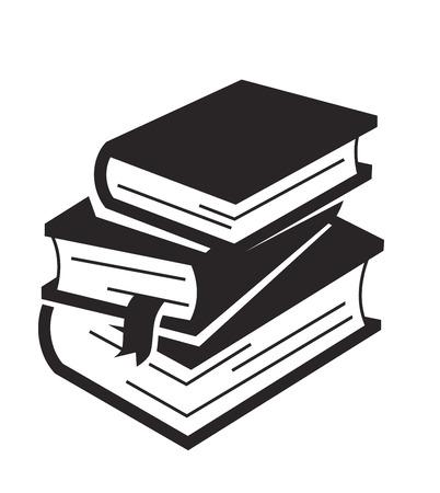 白の背景にベクトル ブラック ブック アイコン