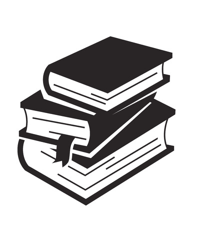 Vector zwart boek pictogram op witte achtergrond Stock Illustratie