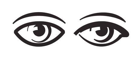 eye icon: vector black eye icon on white background Illustration
