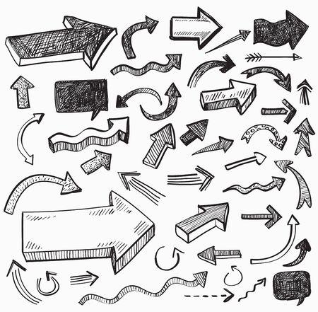 zeichnen: Vektor schwarze Pfeil-Symbol auf weißem Hintergrund