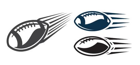quarterback: vector black Football icons on white background Illustration