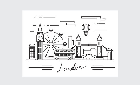 vector black london icon on white background Illustration