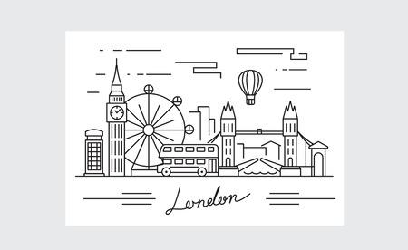 vector black london icon on white background Stock Illustratie