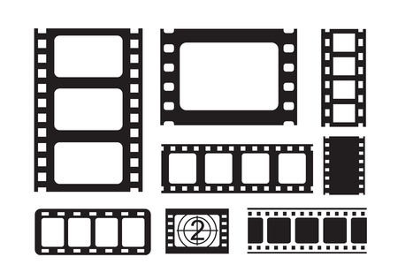 square tape: vector black film strip on white background
