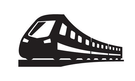 icônes vecteur de train noir sur fond blanc