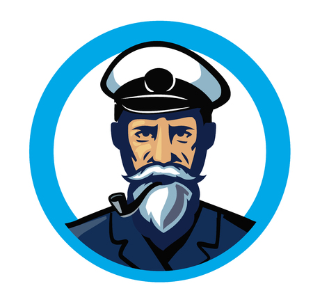 vector color captain icon on white background Illustration